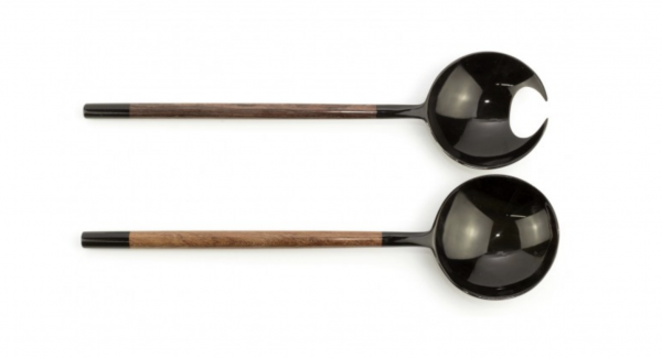 crab claw shaped cutlery in black horn and wood